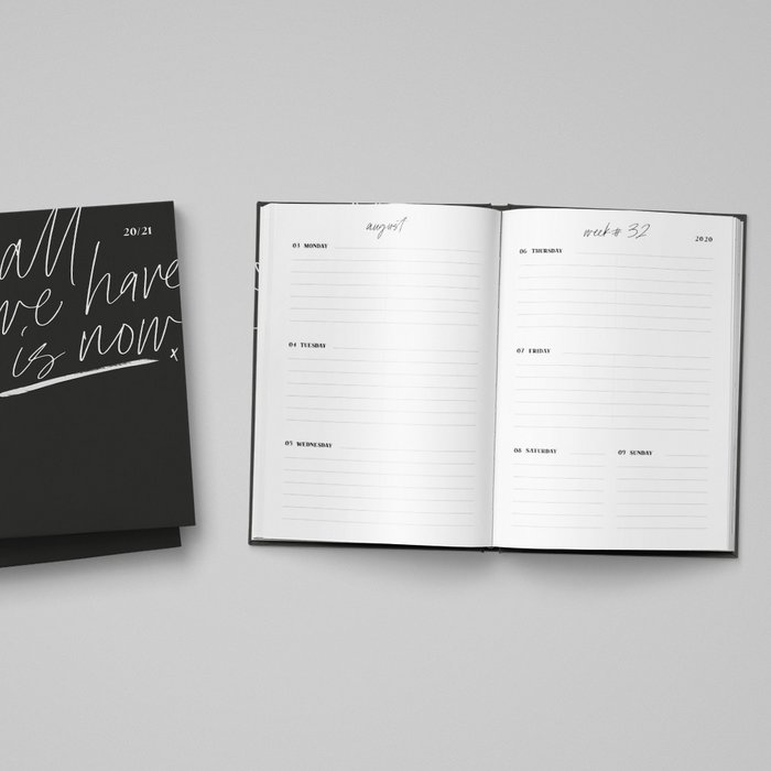 "Academic Planner 2020/2021 ""all we have is now"" [A5] - Black"