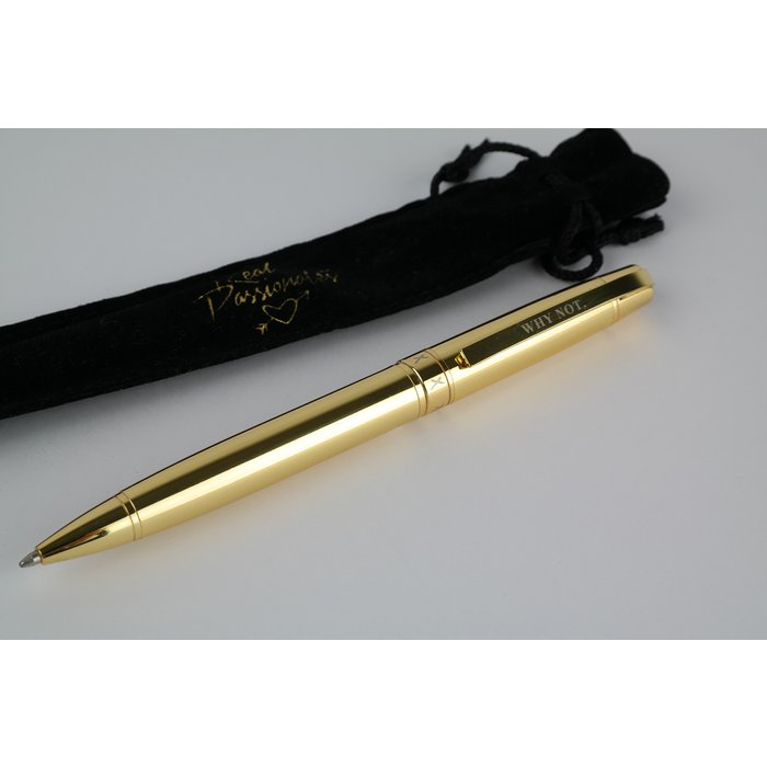 "Gold Metal Pen - ""Why Not"""