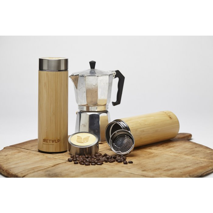 Tumbler Thermosbeker Bamboo 420 ml