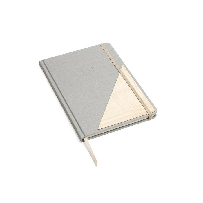 Wooden Notebook - Lux - lichtgrey