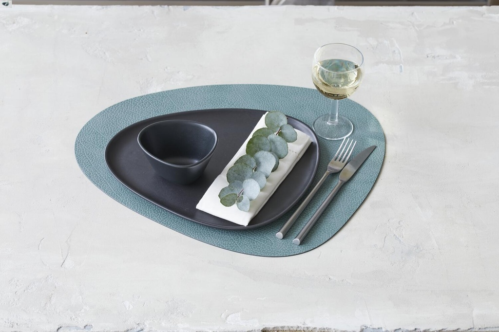Placemat CURVE L - HIPPO PASTEL GREEN