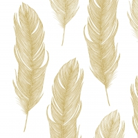 ELEGANT FEATHER GOLD lunch 33X33