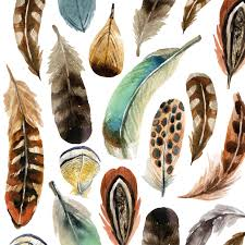 Lunch Aquarell feathers