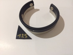 Armband zilver & rubber