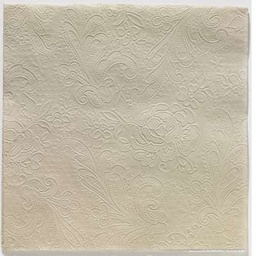 LACE EMBOSSED TAUPE lunch 33X33
